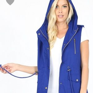 NWT Zenana Outfitters blue Vest